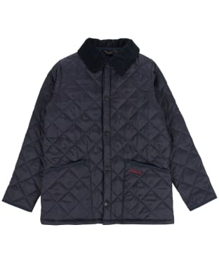 Boy's Barbour Liddesdale Quilted Jacket, 2-9yrs - New Navy