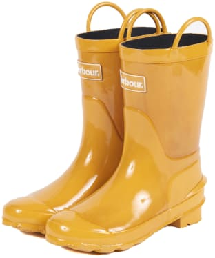 Barbour Kids Durham Wellingtons - Lunar Yellow