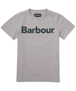 Boy's Barbour Logo Tee, 6-9yrs - Grey Marl