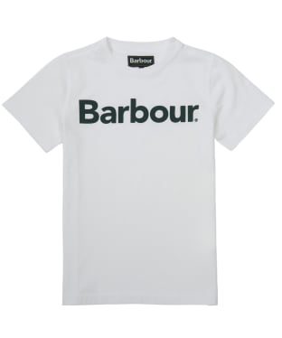 Boy's Barbour Logo Tee, 6-9yrs - White