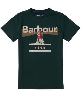 Boy's Barbour Lighthouse Tee, 6-9yrs - Seaweed