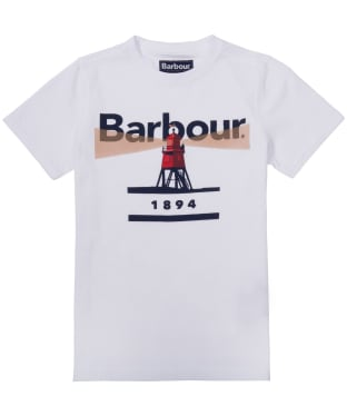 Boy's Barbour Lighthouse Tee, 10-15yrs - White