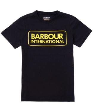 Boy's Barbour International Essential Large Logo Tee, 10-15yrs - Black