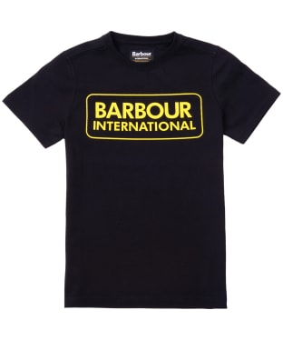 Boy's Barbour International Essential Large Logo Tee, 6-9yrs - Black