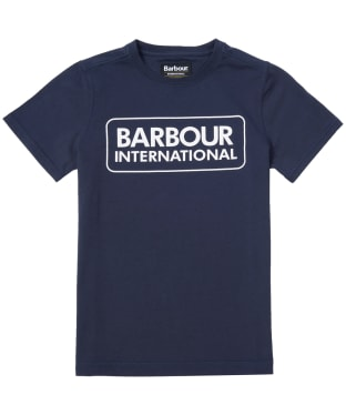 Boy's Barbour International Essential Large Logo Tee, 6-9yrs - Navy