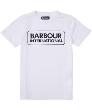 Boy's Barbour International Essential Large Logo Tee, 6-9yrs - White