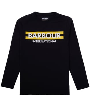Boy's Barbour International Starter Tee, 10-15yrs - Black