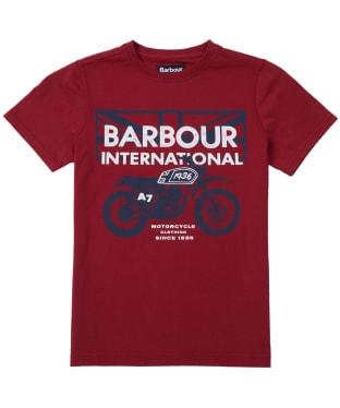Boy's Barbour International Spark Tee, 10-15yrs - Biking Red