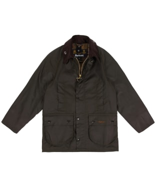 Boy's Barbour Classic Beaufort Waxed Jacket, 2-9yrs - New Olive