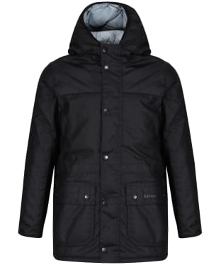 Boy's Barbour Durham Waxed Jacket, 10-15yrs - Black