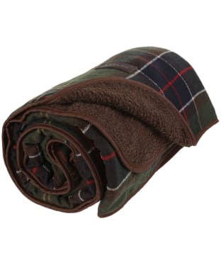 Barbour Large Tartan Wool Touch Blanket