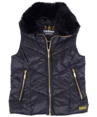 Girl's Barbour International Nurburg Quilted Gilet, 6-9yrs - Black