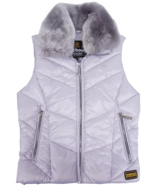 Girl's Barbour International Nurburg Quilted Gilet, 2-9yrs - Haze
