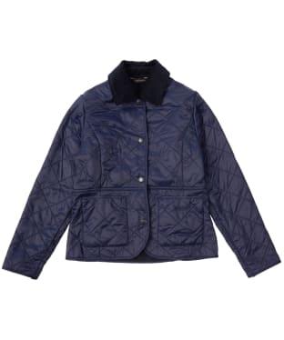 Girl's Barbour Deveron Polarquilt Jacket, 2-9yrs - Navy
