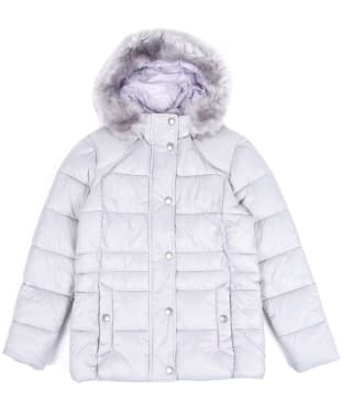 Girl's Barbour Ullswater Quilted Jacket, 2-9yrs - Ice White