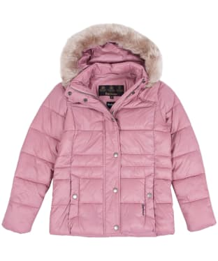 Girl's Barbour Ullswater Quilted Jacket, 2-9yrs - Rose Bay