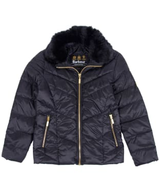 Girl's Barbour International Nurburg Quilted Jacket, 2-9yrs