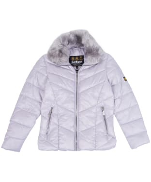 Girl's Barbour International Nurburg Quilted Jacket, 2-9yrs - Haze