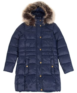 Girl's Barbour Caldbeck Quilted Jacket, 6-9yrs - Navy