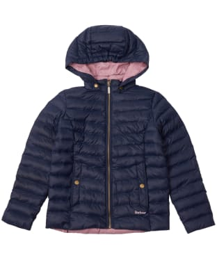 Girl's Barbour Highgate Quilted Jacket, 2-9yrs - Navy
