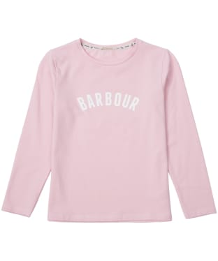 Girl's Barbour Clair Tee, 10-15yrs - Rose