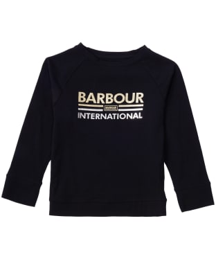 Girl's Barbour International Bowden Tee, 6-9yrs - Black