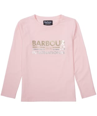 Girl's Barbour International Bowden Tee, 6-9yrs - Rose