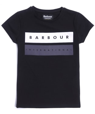 Girl's Barbour International Garrow Tee, 10-15yrs - Black