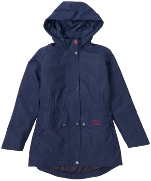 Girl's Barbour Crest Waterproof Breathable Jacket, 10-15yrs - Navy