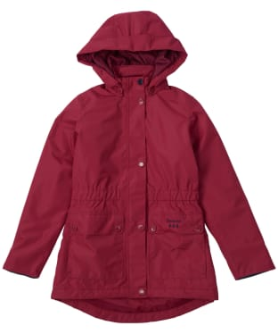Girl's Barbour Crest Waterproof Breathable Jacket, 10-15yrs - Deep Pink