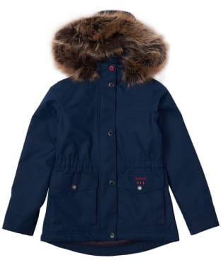Girl's Barbour Abalone Waterproof Jacket, 6-9yrs - Navy