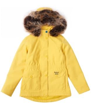 Girl's Barbour Abalone Waterproof Jacket, 2-9yrs - Sulphur Yellow