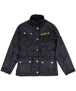 Girl's Barbour International Waxed Jacket, 2-9yrs