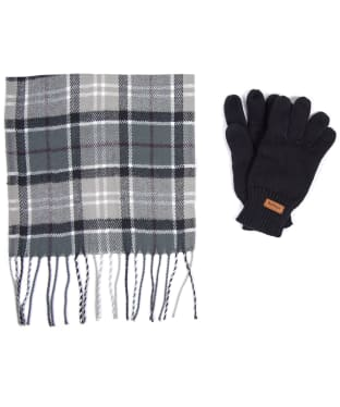 Women's Barbour Scarf and Knitted Glove Gift Set - Grey / Juniper
