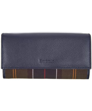 Women's Barbour Convertible Leather Wallet - Navy