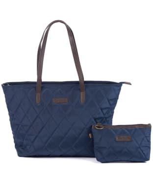 Women's Barbour Witford Quilted Tote Bag - Navy