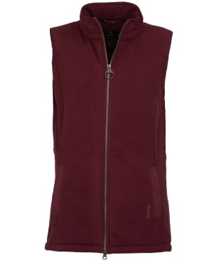 Women's Barbour Dunkeld Fleece Gilet - Bordeaux