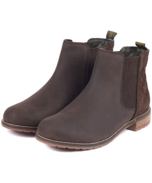 Women's Barbour Abigail Leather Chelsea Boots - Chocolate / Brown