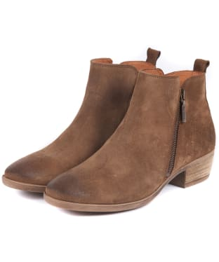 Women's Barbour Una Ankle Boots - Tobacco