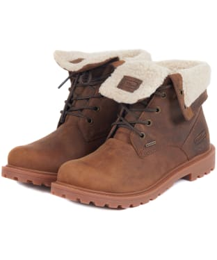 Women's Barbour Hamsterley Waterproof Leather Boots - Umber