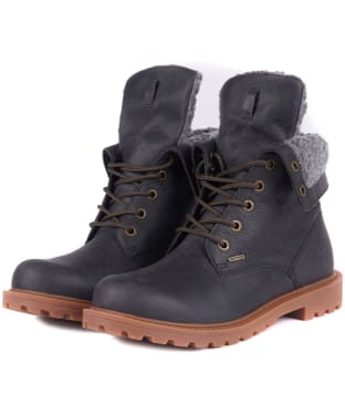 Women's Barbour Hamsterly Roll Top Boots - Graphite