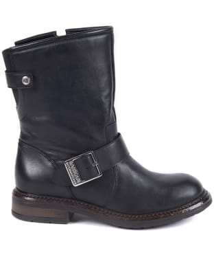 Women's Barbour International Avalon Biker Boots - Black