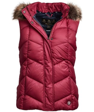 Women's Barbour Downhall Gilet - Deep Pink