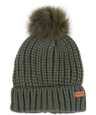 Women's Barbour Saltburn Bobble Hat - Olive