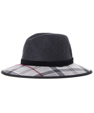 Women's Barbour Thornhill Fedora Hat - CHARCOAL/GRY/JU