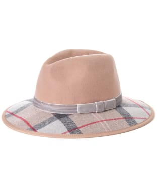 Women's Barbour Thornhill Fedora Hat - Sand / Taupe / Pink