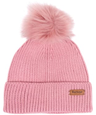 Women's Barbour Dover Pom Beanie Hat - Blush Pink