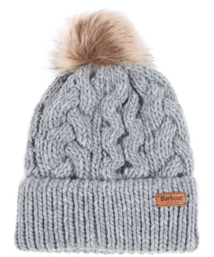 Women's Barbour Penshaw Cable Beanie - Grey