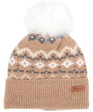 Women's Barbour Roseberry Fairisle Beanie - Mink