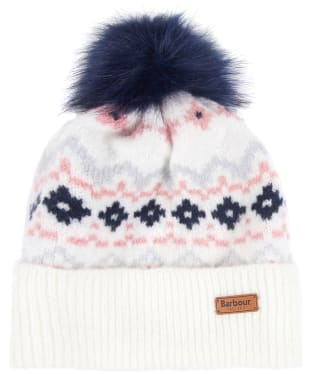 Women's Barbour Roseberry Fairisle Beanie - Cloud